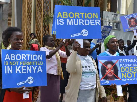 Abortion not permitted in Kenya