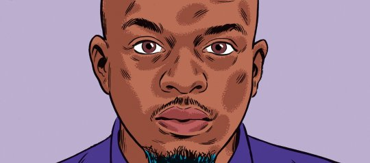 Illustration of George the Poet by Kristian Hammerstad for The New Statesman