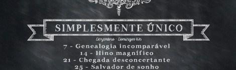 Jesus, simplesmente único - série dezembro 2014