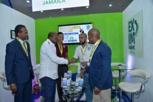 Jamaica Minister greets Jamaica Hotel and Tourist Association participants