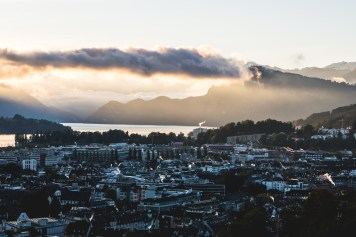 Sunrise in Lucerne