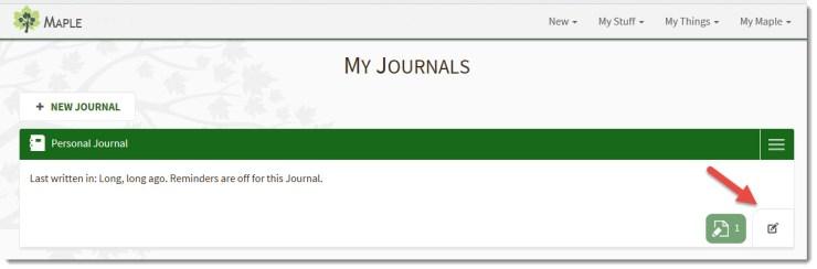 Rename a Journal