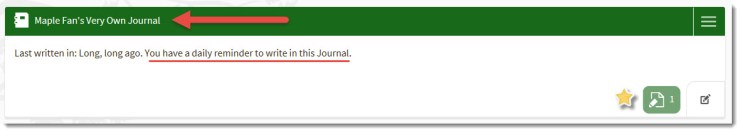 Updated Journal Name