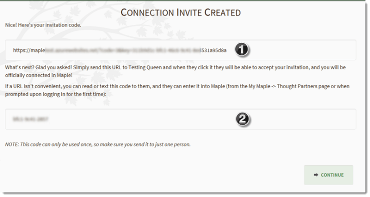 Confirm Invite Created