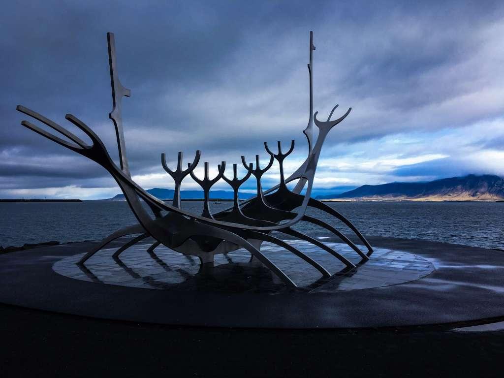 The sun Voyager sculpture Reykjavik