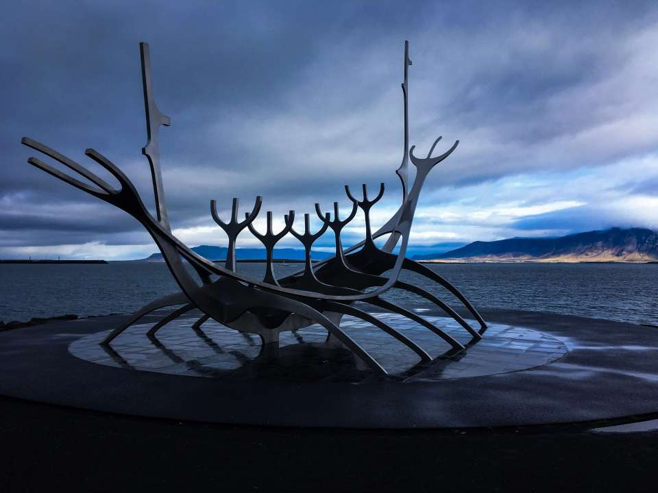 The sun Voyager sculpture Reykjavik