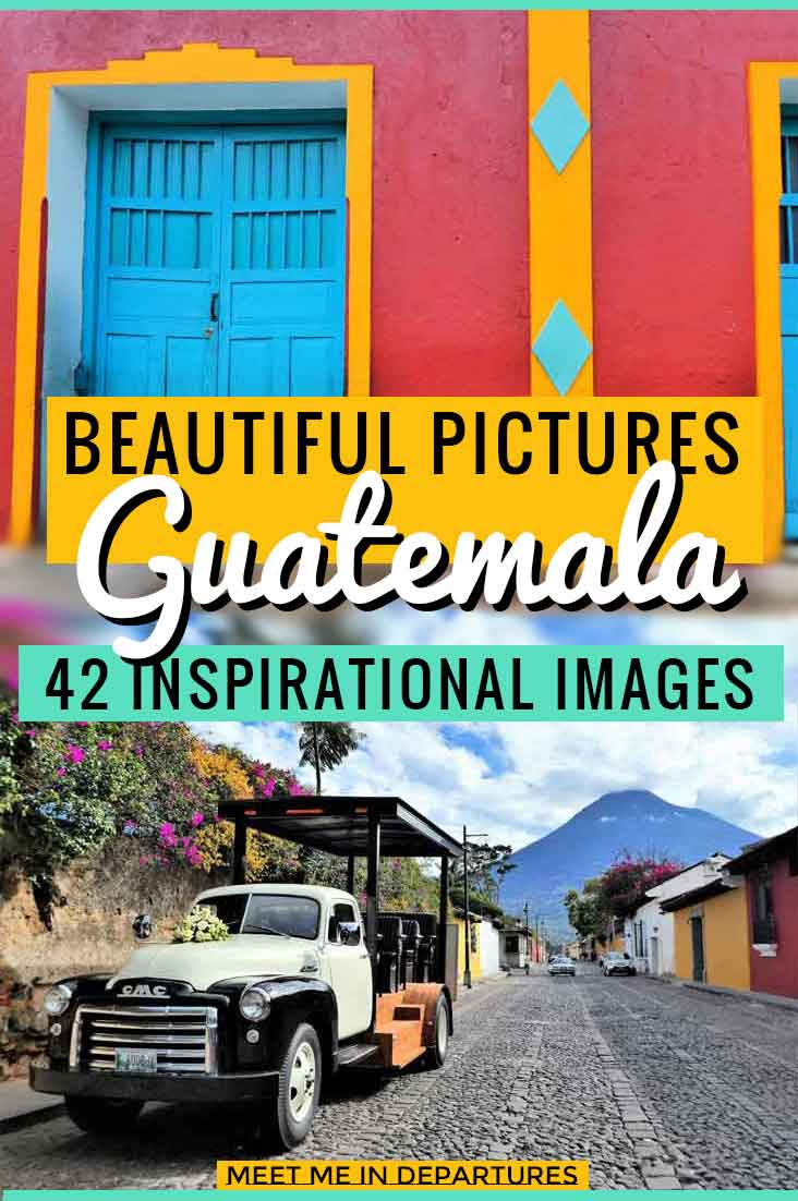 42 Beautiful Pictures of Guatemala to give you wanderlust. Photos of Tikal, Flores, Antigua, Lake Atitlan, Flores & more. Get a sneak preview of all the things to see in Guatemala including ruins, Colonial Towns, UNESCO sites at the best Instagramable spots. #Guatemala #CentralAmerica #TravelPics