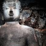 Borobudur buddha and lizard