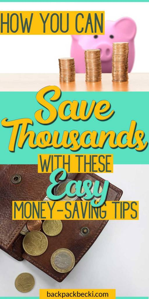Easy ways to save a forune that you can try out now! A year from now you wish you started doing these money saving tips. Save thousands by following these simple money saving ideas. #money #moneymatters #saveafortune #moneysavingtips #moneysave
