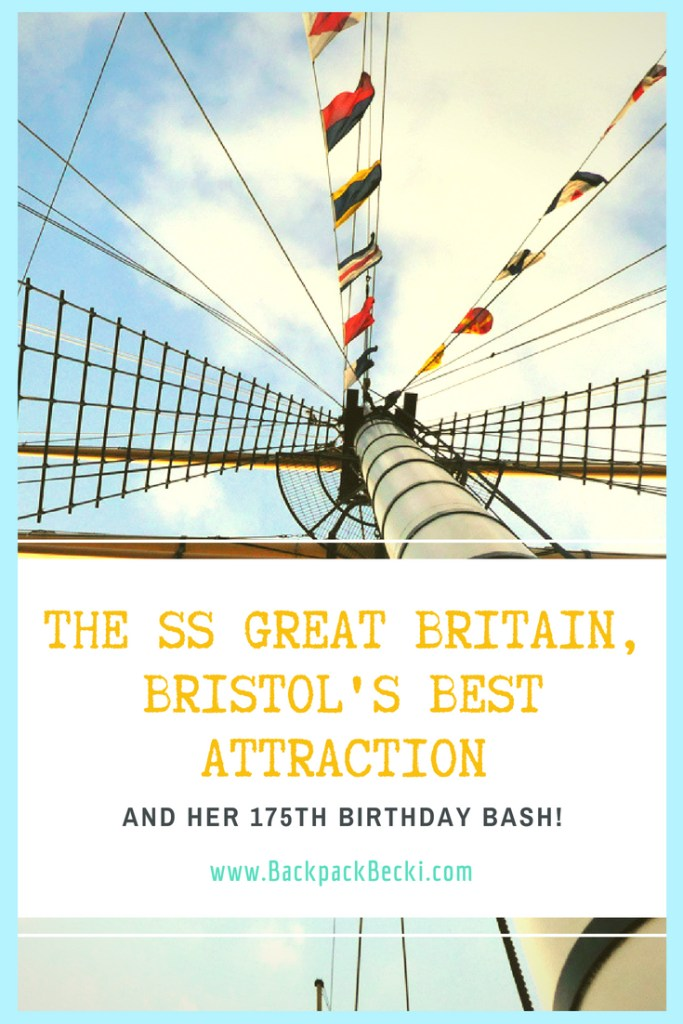 Bristols Most Famous Ship the SS Great Britain turns 175. Must see attraction in Bristol UK. The SS Great Britain build by Isombard Kingdom Brunel and at the time was a record breaker for LOTS of things. Bristol's Iconic ship is a must see destination in the Historical Bristol Docks #Bristol #VisitBristol #SSGreatBritain #BrunelsGreatBritain #IsombardKingdomBrunel #BristolDocks #BristolTopAttraction #WhatToDoInBristol #BristolUK #TopCitiesUK #RoadTripUK #VisitingBristol #HistoricalBristol #SteamShip #BeautifulBoats #IconicBoat #BrilliantEngineering #HistoricalLandmarks #MaritimeHistory #BackpackingUK #TravelBloggers #BackpackBecki