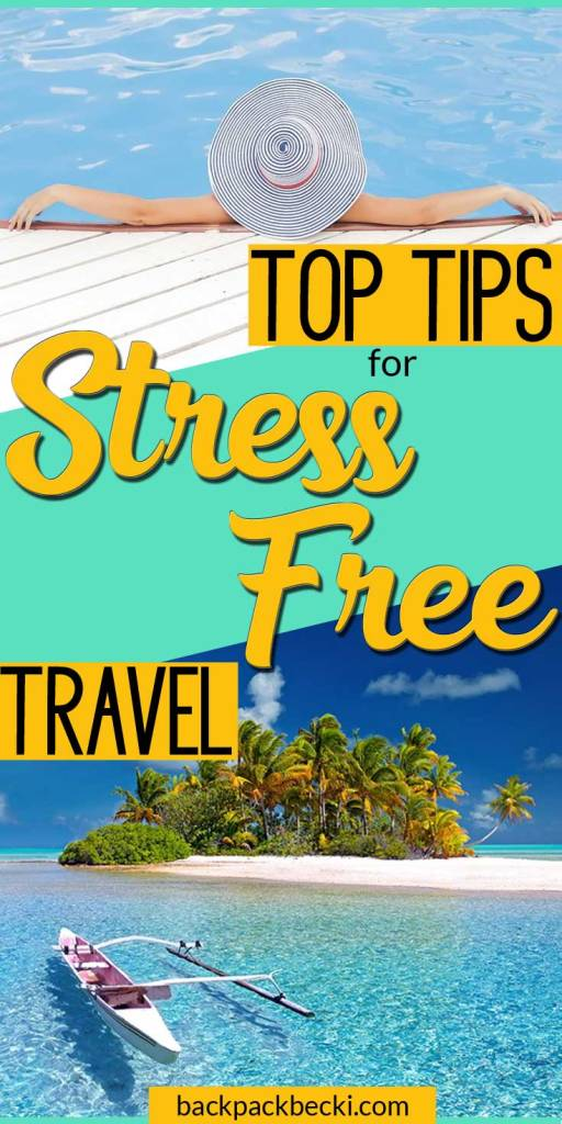 Stress Free Travel, Preparing for your trip. Tired and tested travel tips. Important things to think about for travel. - 10 Tips Guaraunteed To Take The Stress Out of Travel | How to travel STRESS FREE! #TravelHacks #TravelTips #BackpackHacks