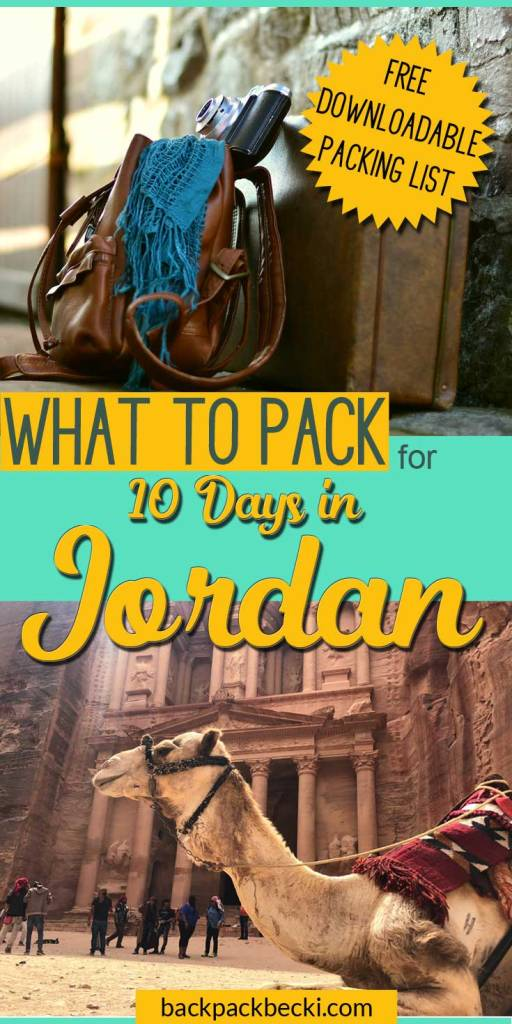 What to wear in Jordan. Packing List for a trip to Jordan. A Westerners guide on what to pack for a trip to Jordan #MiddleEast #Jordan #PackingList