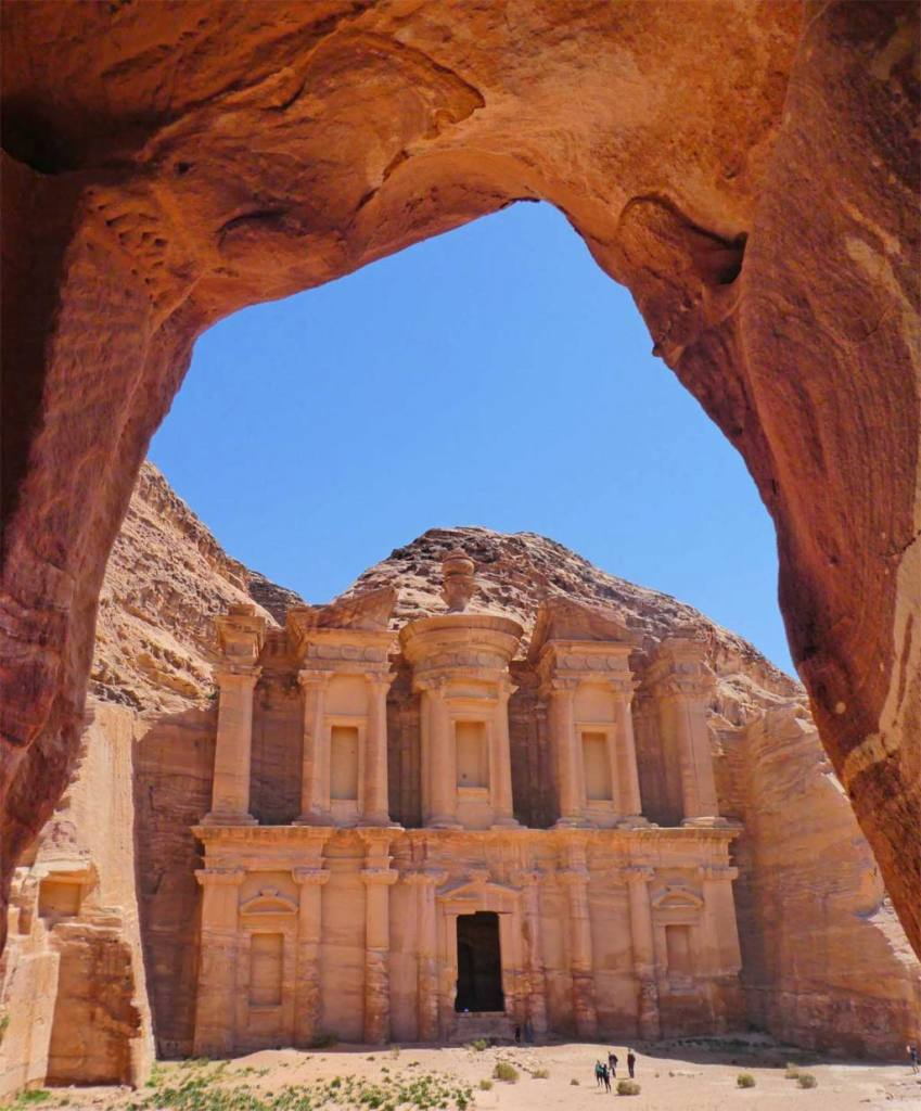 The-monastary-at-petra-through-cave-arch-Optimised