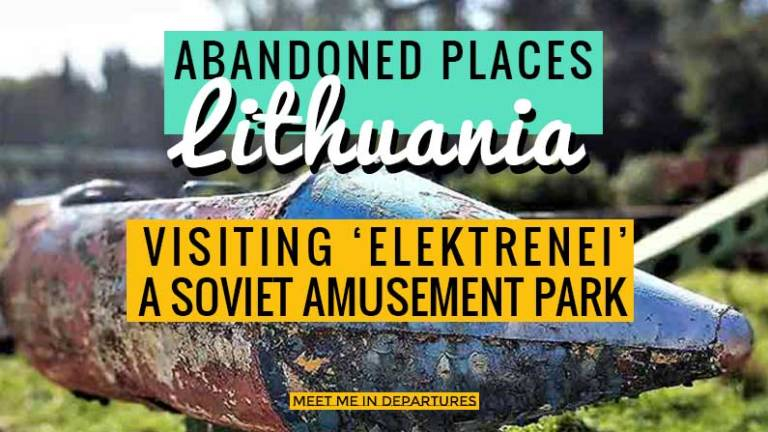 How to visit the soviet abandoned amusement park Elektrenai in Lithuania. This abandoned theme park in Lithuania was once a top attraction until it closed in 2013, where nature has since taken over. Check out old images from the archives, how to get there and what to expect. Who know's how long this abandoned theme park will be around for, go see it while you still can. #Lithuania #AbandonedPlaces #OffBeatTravel #AbandonedFairground #DarkTourism