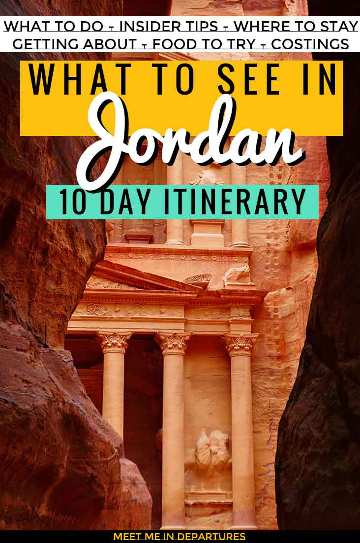 An awesome 10 days in Jordan guide A perfect itinerary including Petra, Wadi Rum, Jerash, Amman, and more, plus how to get about and where to eat & sleep. #Jordan #Petra #MiddleEast