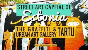 Estonia's Street Art Capital – Urban Art & The Tartu Graffiti Scene + Street Art Map with locations of this ever changing urban gallery. Tartu Graffiti - Estonias second largest city plays host to the nations street art hub. #grafitti #streetart #estonia #baltics #urbanart
