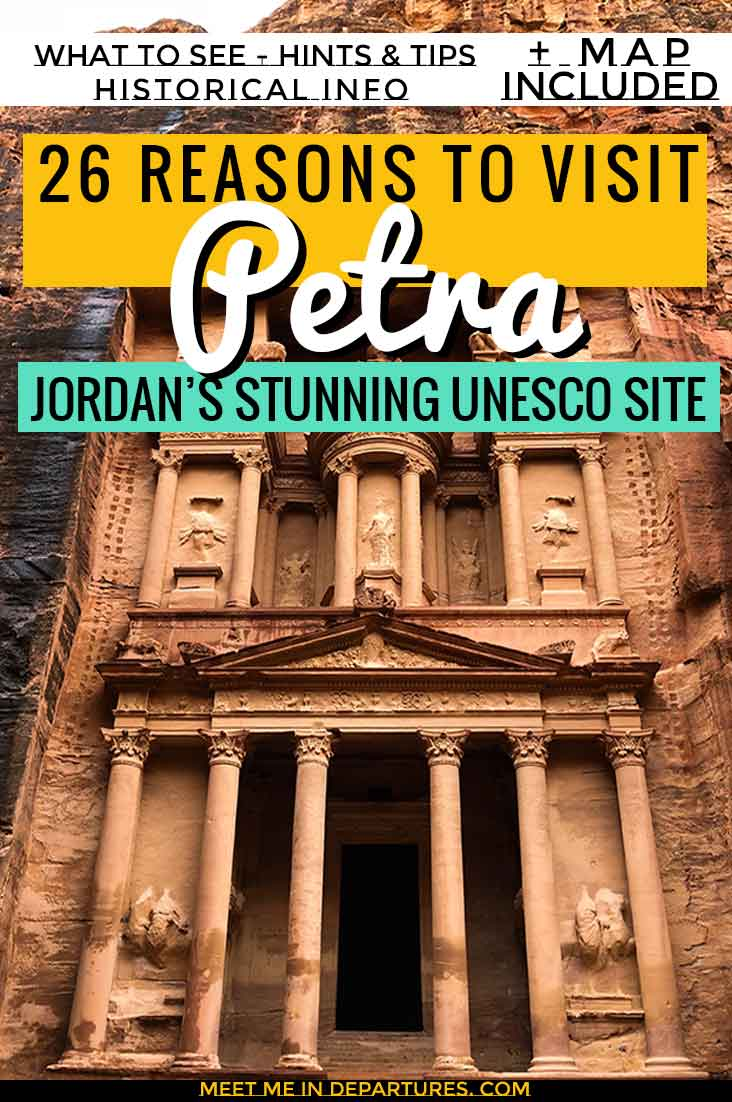 26 Reasons to Visit Petra, everything you need to know about visitng Jordans top attraction. The best ruins in Jordan and how to see them all. Bucket list destinations in Jordan. #Jordan #MiddleEast #Petra #UNESCO