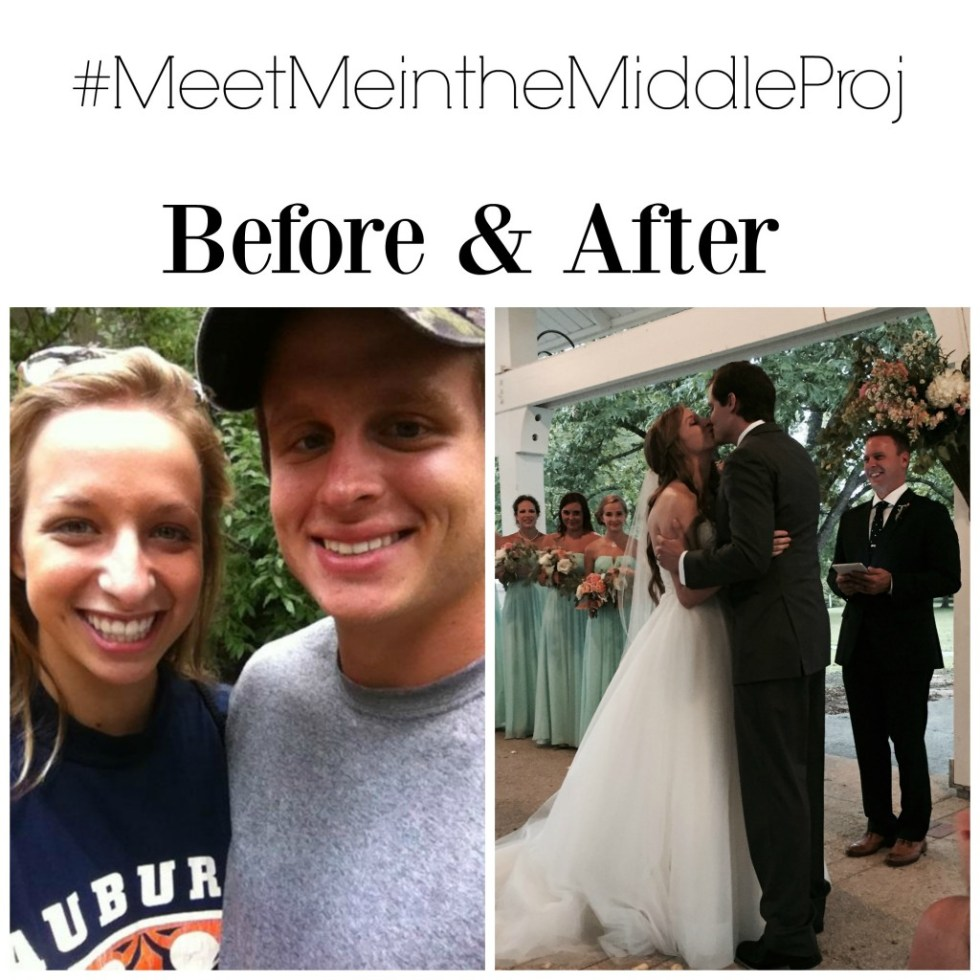 Seeing this cute couple's wedding was a great reminder that God plan for many of us is meeting Jesus in marriage. #MeetMeintheMiddleProj