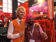 IBTM World - Mr Holland and Mr India; love the colourful suit!