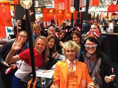 Group presentation at the Holland stand are fun!