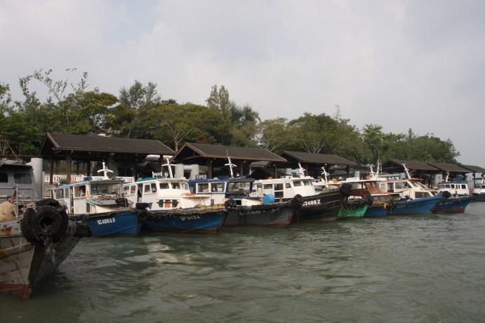 Boats that take you to Pulau Ubin