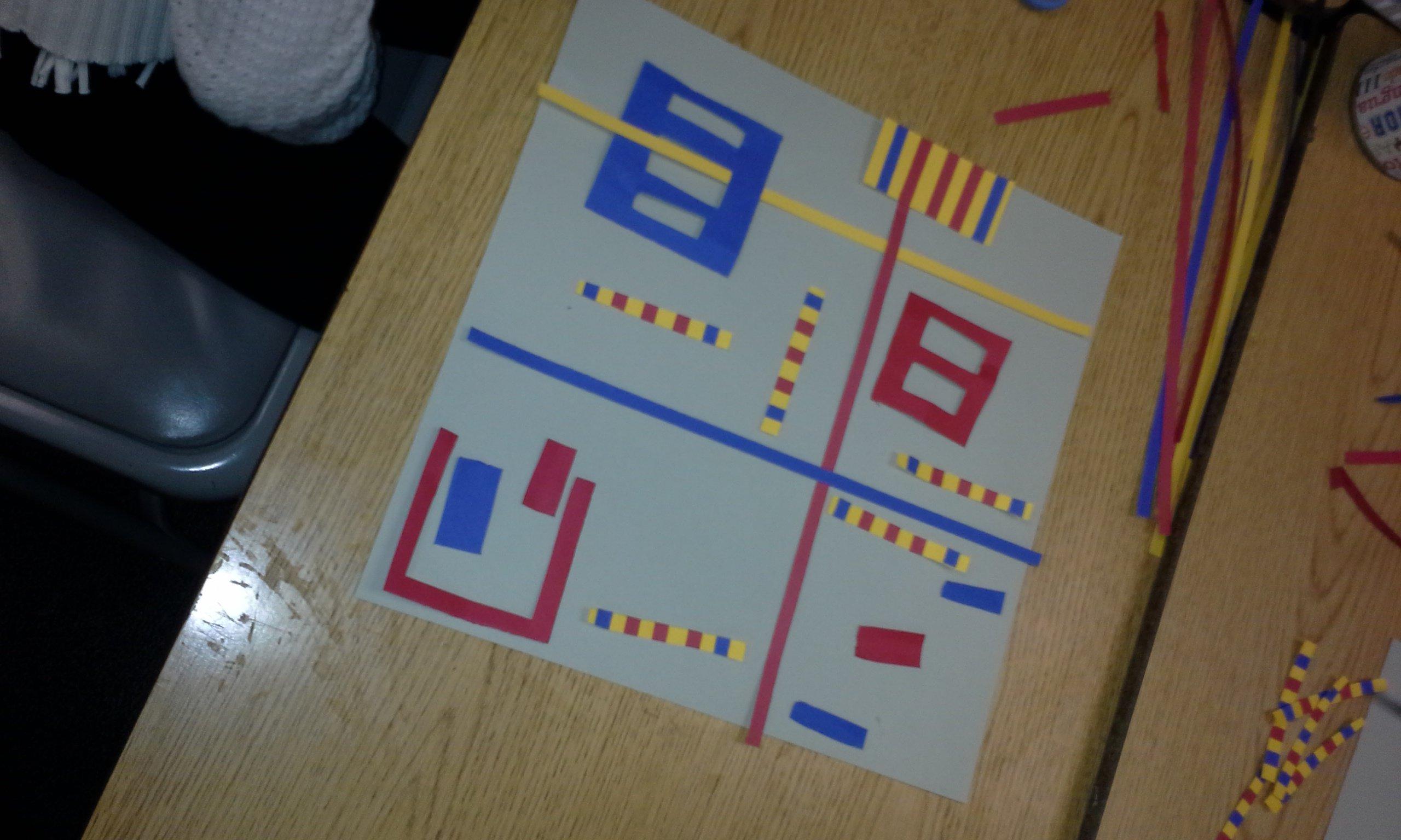 Meet The Masters Piet Mondrian Mondrian Type Balanced Compositions Art Activity