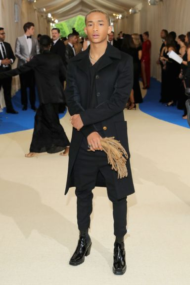 "NEW YORK, NY - MAY 01: Jaden Smith attends the ""Rei Kawakubo/Comme des Garcons: Art Of The In-Between"" Costume Institute Gala at Metropolitan Museum of Art on May 1, 2017 in New York City. (Photo by Neilson Barnard/Getty Images)"