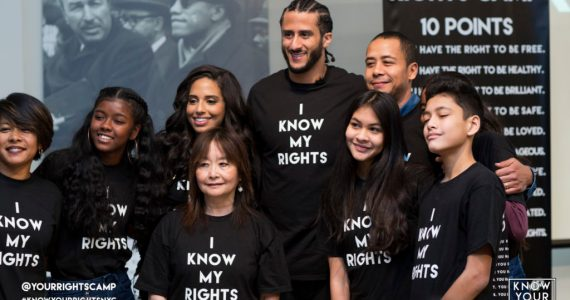 Colin Kaepernick Receives NFLPA Community MVP Award