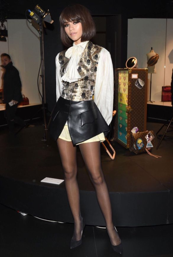 Zendaya at LV Exhibit opening. Pic by CLINT SPAULDING/WWD