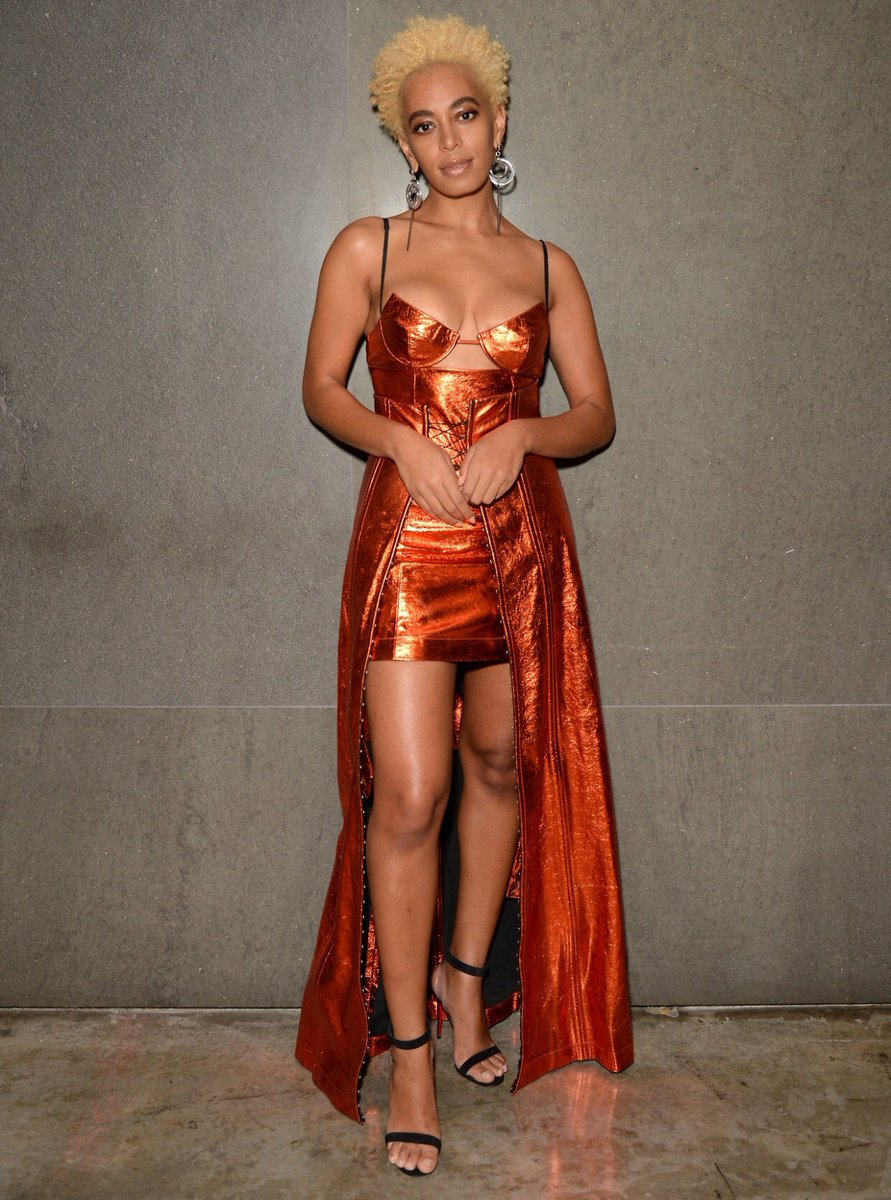 Solange in Helmut Lang at the Surface Travel Awards via Twitter