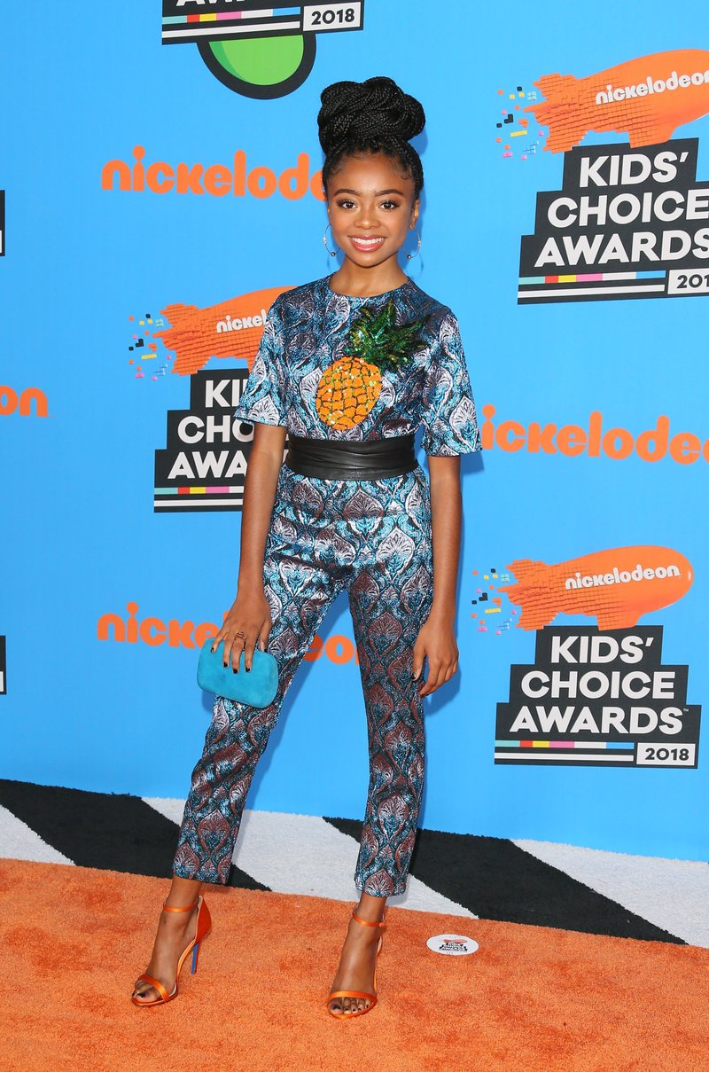 Skai Jackson at the Kids' Choice Awards 2018. Credit: JEAN-BAPTISTE LACROIX/AFP/Getty Images