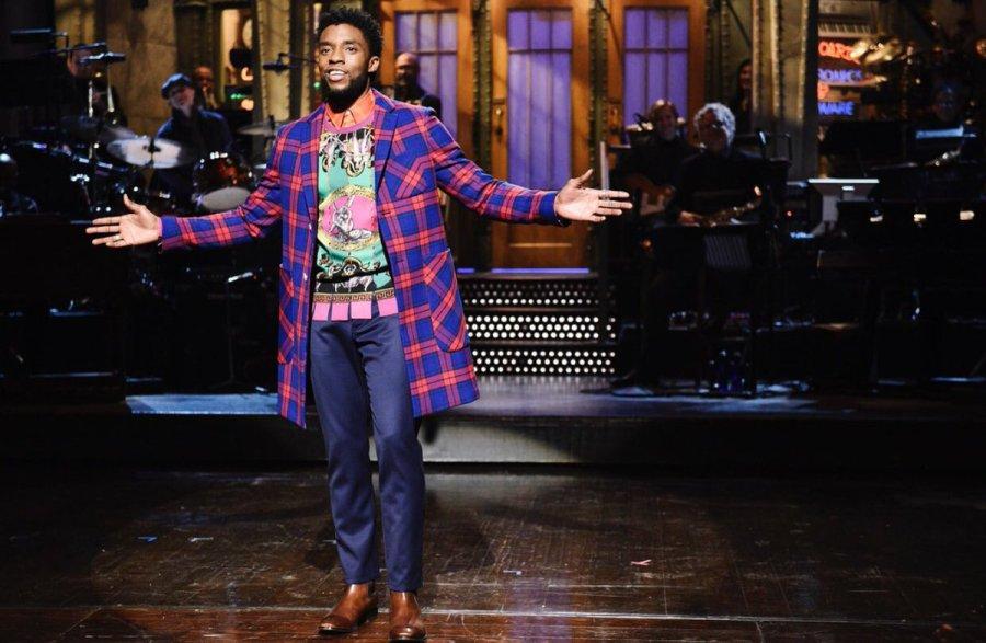 Chadwick Boseman presenting Saturday Night Live