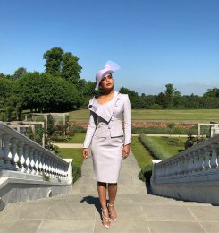 Priyanka Chopra wearing Vivienne Westwood and a Phillip Treacy hat via Twitter @priyankachopra