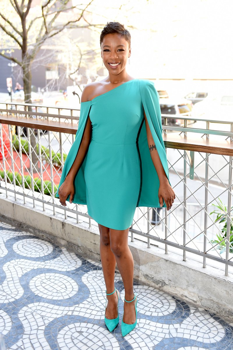Samira Wiley attends the Hulu Upfront 2018 Brunch in NYC. Photo by Nicholas Hunt/Getty Images for Hulu