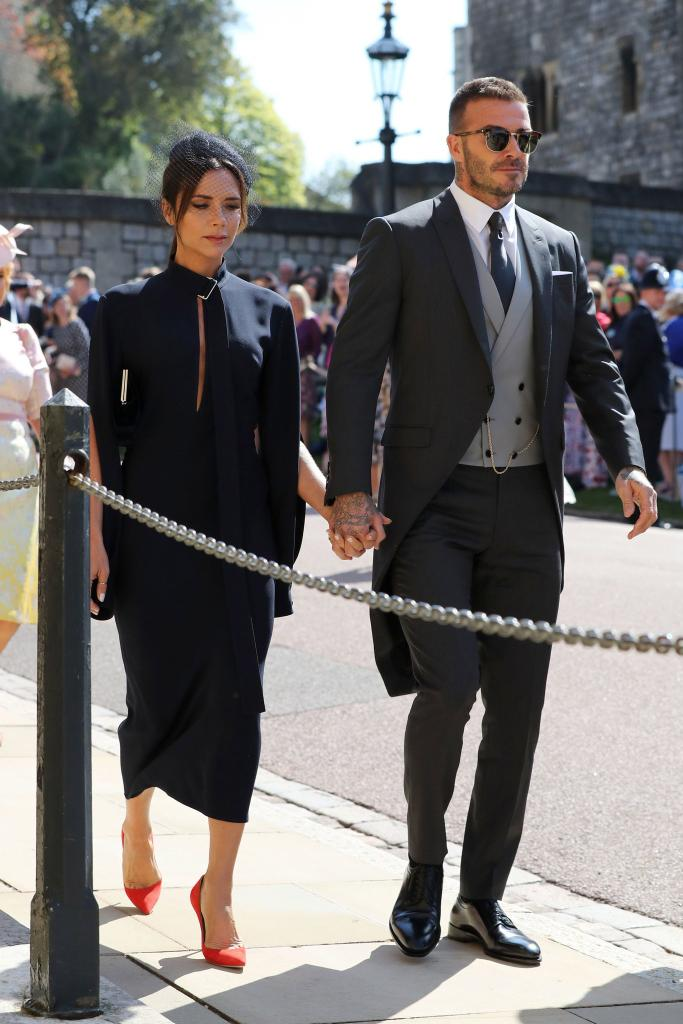 Victoria and David Beckham wearing a Victoria Beckham dress and Dior Homme  suit. - MEFeater 13e919c01ef