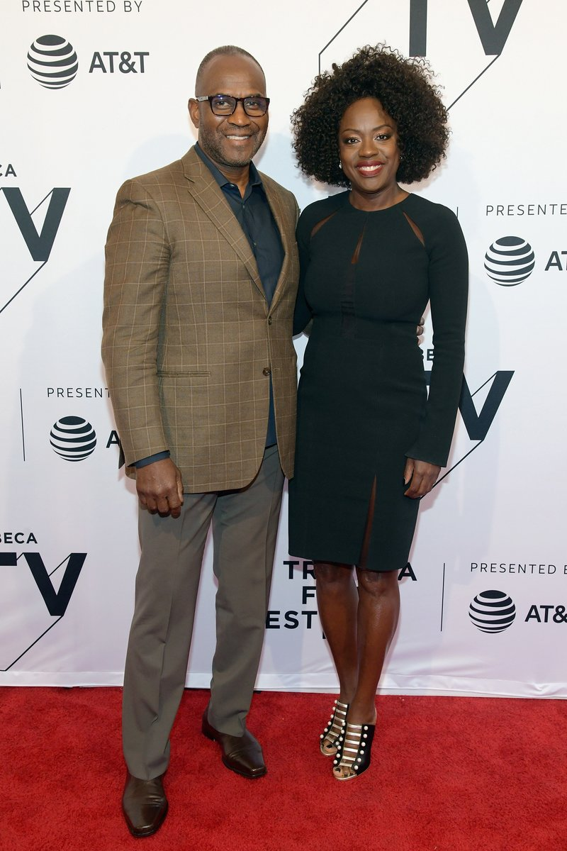 """Julius Tennon and Viola Davis attended """"The Last Defense"""" during the Tribeca Film Festival in NYC. Photo by Ben Gabbe/Getty Images for Tribeca Film Festival"""