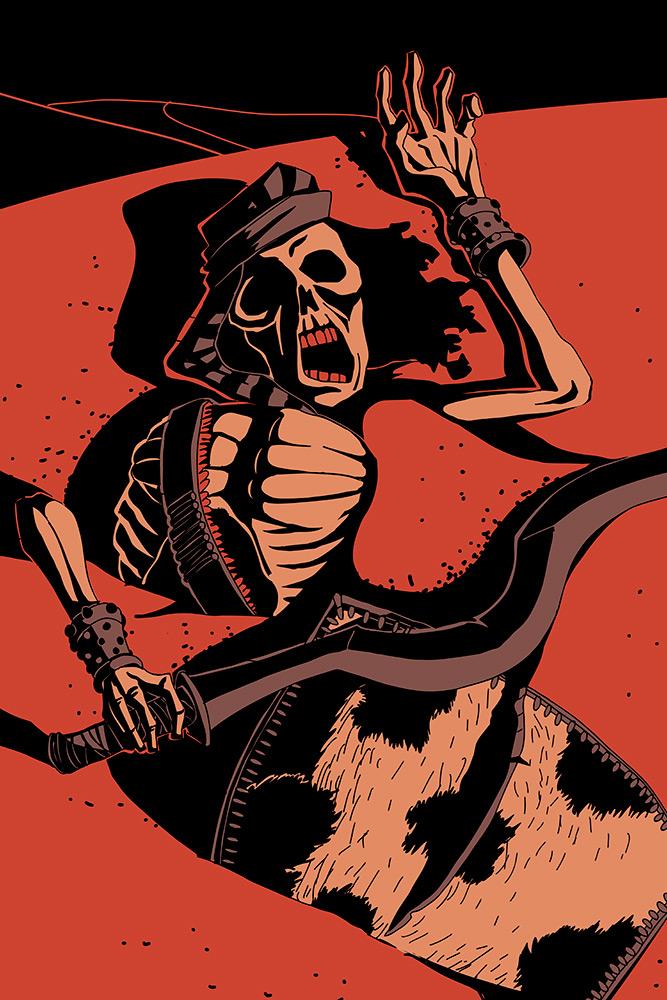 illustration chevalier jeu de carte king of dust