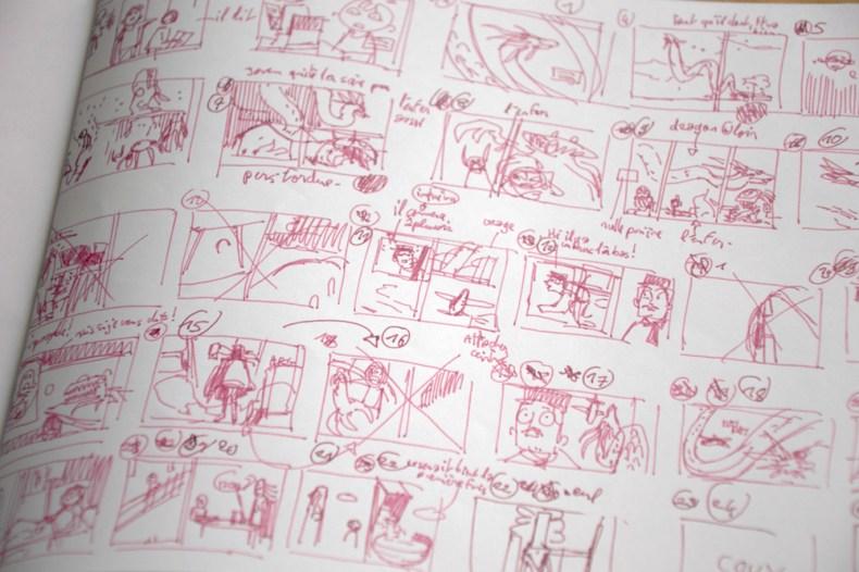 gros plan de mon storyboard durant les 23h de la bd 2020