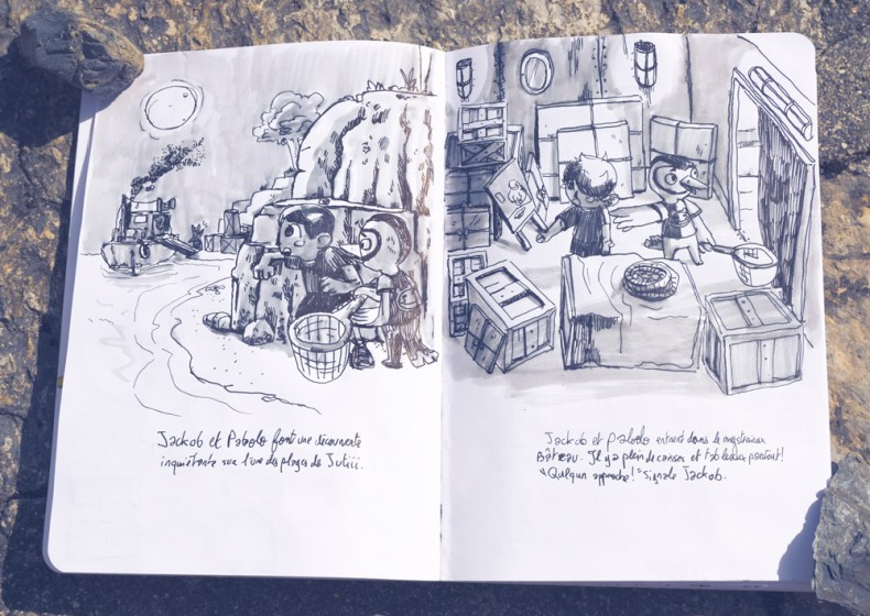 Deux aventures tirées du carnet de florian mefisheye garbay.