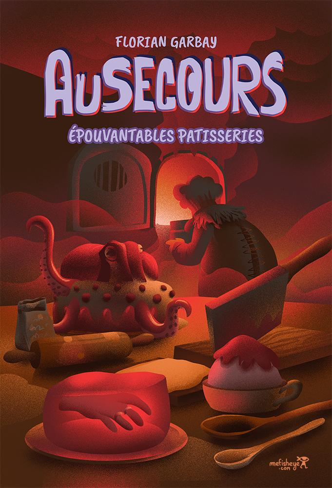 book cover au secours livre horreur jeunesse