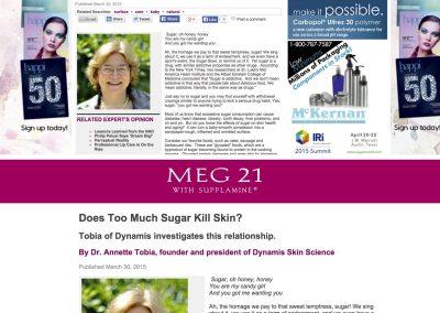 Does Too Much Sugar Kill Skin?