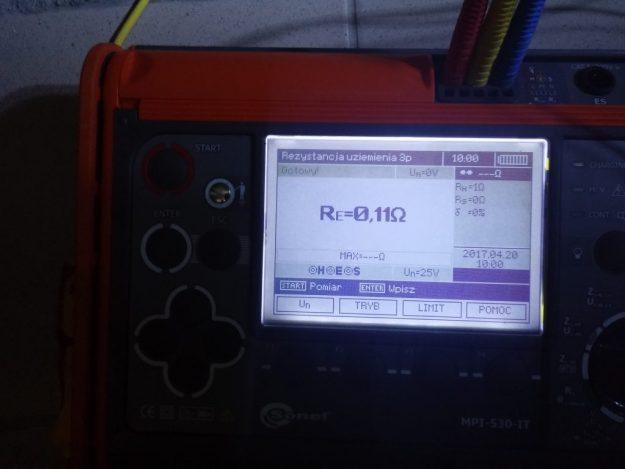 Pomiary instalacji odgromowej Społem Łomża