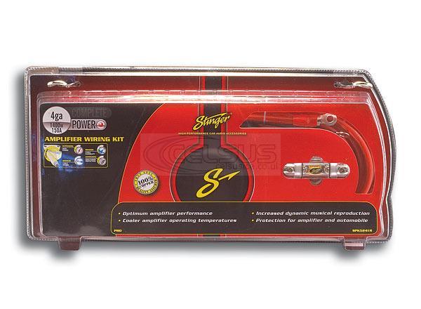 Stinger PRO 4 Awg Amp Wiring Kit