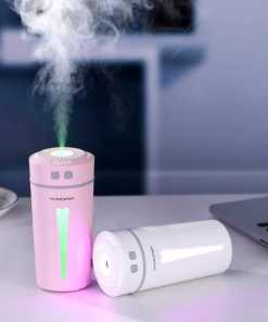 Humidificador Happy Encendido Color Rosado y Blanco