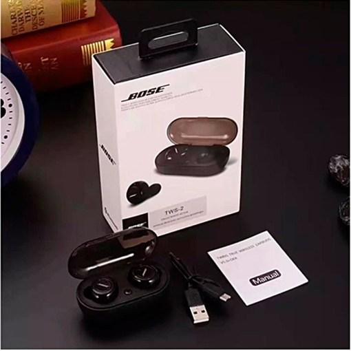 Auriculares Inalámbricos Bose TWS con Estuche Color Negro Caja Manual y Cable de Carga