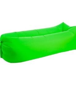 Colchón inflable tipo canoa para camping color verde mega bahía
