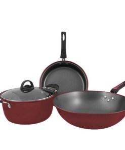 Juego de utensilios para cocina well easy 3 en 1 sartenes mega bahía