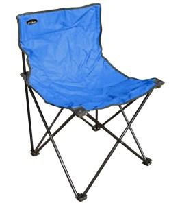 Silla de metal plegable color celeste para camping mega bahía