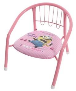 Silla metálica para niño color rosada con imagen de los minions mega bahía