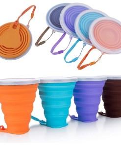 Vaso de silicona plegable varios colores mega bahía